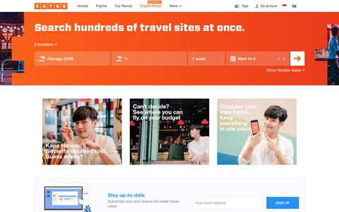 Search holiday packages on KAYAK