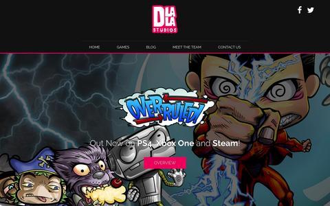 Screenshot of Home Page dlalastudios.com - Dlala Studios - captured Aug. 2, 2016