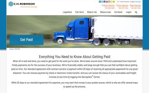 Get Paid - C.H. Robinson