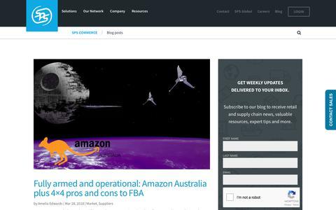 Screenshot of Blog spscommerce.com - Blog posts   SPS Commerce - captured April 21, 2018