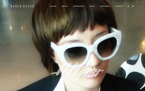 Screenshot of Home Page mariorusso.com - Award winning Boston hair salons | Salon Mario Russo - captured Feb. 3, 2016