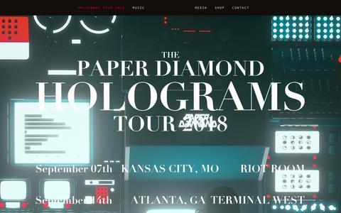 Screenshot of Home Page paper-diamond.com - PAPER DIAMOND - captured Oct. 25, 2018