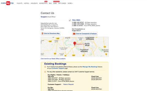 Screenshot of Contact Page makemytrip.com - Contact Us | www.makemytrip.com - captured Nov. 15, 2018