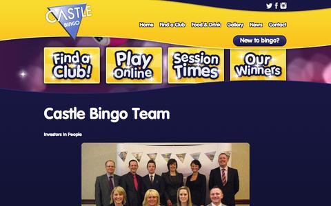 Screenshot of Team Page castlebingo.co.uk - Castle Bingo Team - captured Oct. 2, 2014