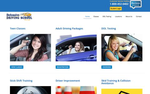 Screenshot of Home Page driving-school.com - Defensive Driving School | Because Safe Driving is No Accident - captured July 5, 2017