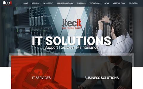 Screenshot of Home Page jtecit.com - IT Companies in Belfast - JTec IT Solutions - captured Oct. 13, 2018