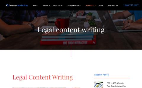 Legal Content Writing for Attorneys | Internet Marketing for Lawyers