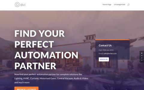 Screenshot of Home Page ocher.co.in - Ocher – One Stop Home Automation - captured Oct. 18, 2018