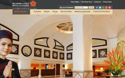 Screenshot of Maps & Directions Page rembrandtbkk.com - Bangkok Hotel - Sukhumvit Hotel | Overview - captured Oct. 1, 2014