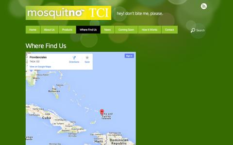 Screenshot of Maps & Directions Page mosquitnotci.com - Where Find Us - captured Oct. 26, 2014