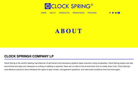 Screenshot of About Page clockspring.com - About Us - captured Jan. 29, 2016