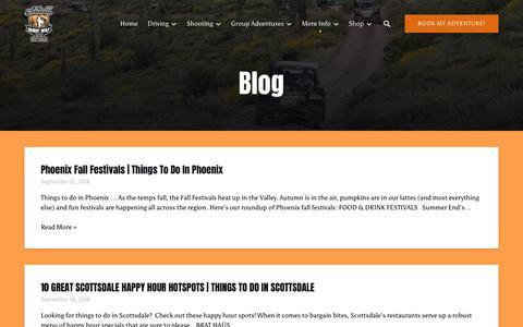 Screenshot of Blog desertwolftours.com - Blog | Desert Wolf Tours - captured Nov. 6, 2018