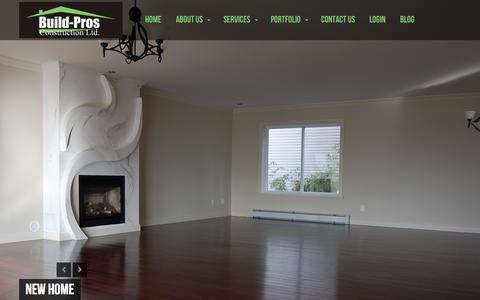 Screenshot of Home Page greatvancouvergeneralcontractor.com - Build-Pros Construction Ltd. | - captured Oct. 3, 2014