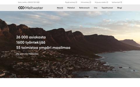 Screenshot of About Page meltwater.com - Meistä — Opi lisää Meltwaterista ja siitä, mitä teemme - captured Jan. 17, 2018
