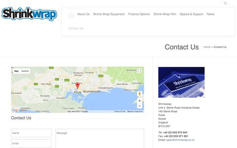 Screenshot of Contact Page shrinkwrap.co.uk - Contact Us - Shrinkwrap - captured Oct. 4, 2017
