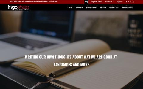 Screenshot of Blog lingoshack.com - Blog Banner - captured Nov. 5, 2018