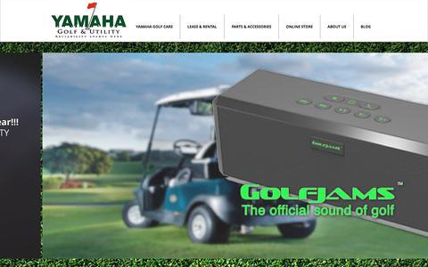 Screenshot of Home Page yamahagu.com - Yamaha Golf & Utility - Golf car rental and purchase - captured Dec. 10, 2019