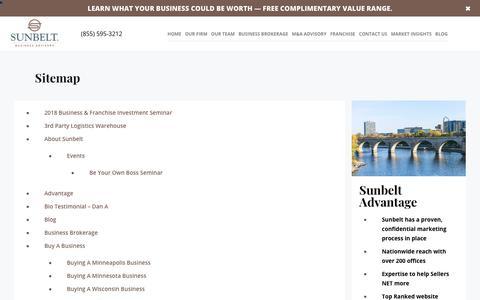 Screenshot of Site Map Page sunbeltmidwest.com - Sitemap - Sunbelt Midwest Blog - captured Dec. 9, 2018