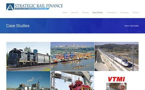 Screenshot of Case Studies Page strategicrail.com - Case Studies - Strategic Rail Finance - captured Oct. 19, 2018