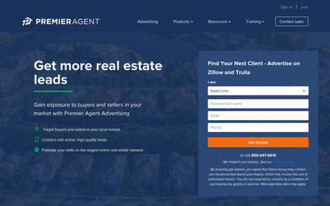 Screenshot of Contact Page zillow.com - Contact Us | Premier Agent - Zillow & Trulia - captured Oct. 21, 2018