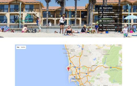 Screenshot of Maps & Directions Page oceanparkinn.com - Directions | Ocean Park Inn - captured Jan. 2, 2016