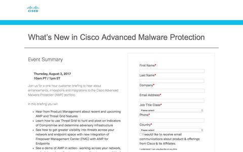Screenshot of Landing Page cisco.com - Cisco - captured Sept. 13, 2017