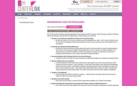 Screenshot of Signup Page lgbtcenters.org - centerlink membership glbt community centers - captured Oct. 2, 2014