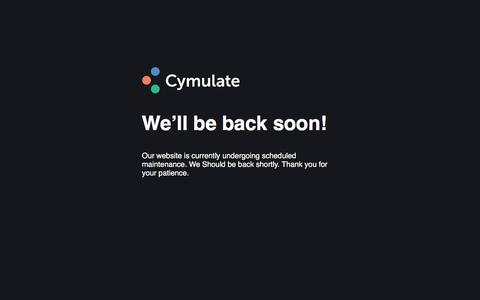 Screenshot of Login Page cymulate.com - Site Maintenance - captured Nov. 30, 2019