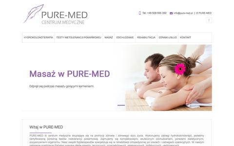 Screenshot of Home Page pure-med.pl - PURE-MED - captured May 27, 2016