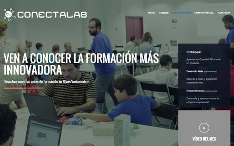 Screenshot of Home Page campus-conectalab.com - ConectaLAB Campus - captured Jan. 26, 2015