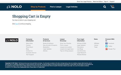 Shopping Cart  - Nolo