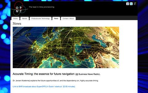 Screenshot of Press Page opnt.nl - News - captured Oct. 9, 2014