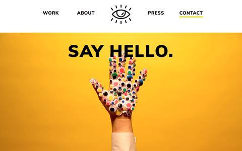 Screenshot of Contact Page wedesignstudios.com - WE Design Studios | Contact - captured Sept. 23, 2018