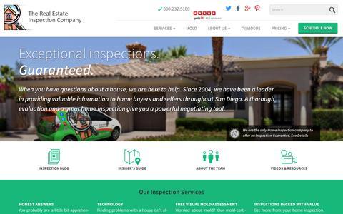 Screenshot of Home Page sdinspect.com - Home Inspector San Diego - The Real Estate Inspection Co. - captured Nov. 17, 2017