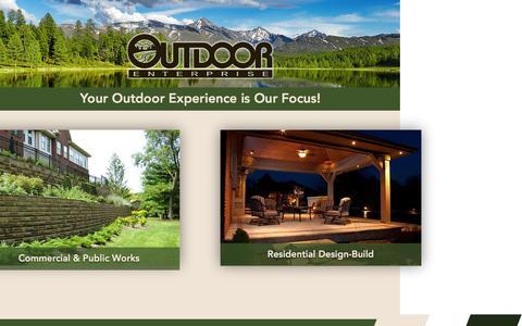 Screenshot of Home Page outdoor-enterprise.com - Landscape Construction Design-Build Contractor | Troy, OH - captured Feb. 22, 2016