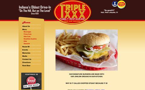 Screenshot of Menu Page triplexxxfamilyrestaurant.com - Triple XXX Family Restaurant - Triple XXX Family Restaurant - captured June 9, 2016