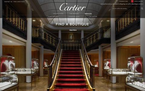 Screenshot of Services Page cartier.us - Cartier Customer Services - Fine Jeweler, Luxury Watchmaker, Bridal and Luxury Leather Goods - captured Oct. 31, 2014