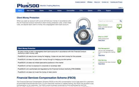 Plus500 | Client Money Protection