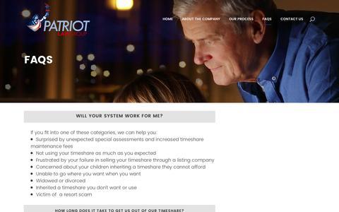 Screenshot of FAQ Page patriotlawgroup.com - Patriot Law Group     FAQs - captured May 15, 2017