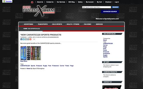 Screenshot of Blog sportsdynamix.com - SDX Sports Blog - captured Oct. 9, 2014