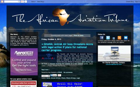 Screenshot of Terms Page theafricanaviationtribune.com - • The African Aviation Tribune •: Legal - captured Oct. 7, 2014