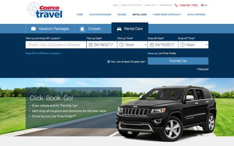 Rental Car Low Price Finder at Costco Travel
