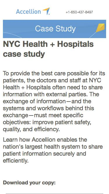 NYC Health + Hospitals case study, Case Study from Accellion