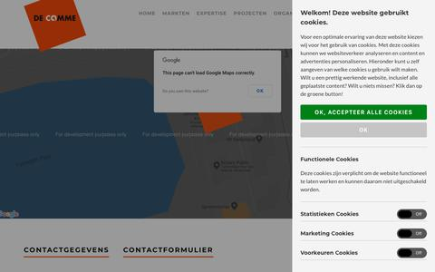 Screenshot of Contact Page decomme.nl - Contact - De Comme - captured Oct. 7, 2018