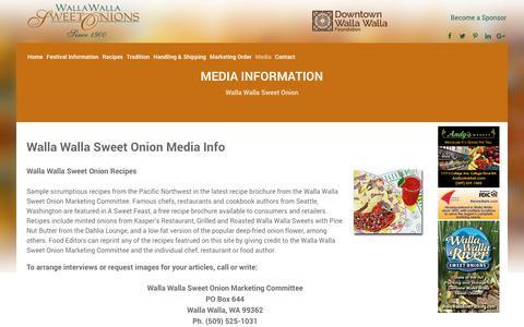 Screenshot of Press Page sweetonions.org - Walla Walla Sweet Onions - Media - captured Sept. 24, 2018