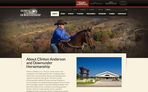 Screenshot of About Page downunderhorsemanship.com - About - Downunder Horsemanship - captured Sept. 19, 2014