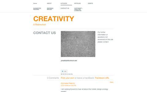 Screenshot of Contact Page wordpress.com - CONTACT US   CREATIVITY - captured Sept. 12, 2014