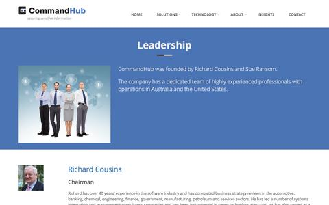 Screenshot of Team Page commandhub.com - CommandHub | Leadership - captured July 15, 2016