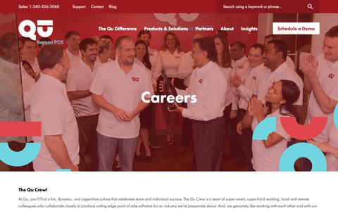 Screenshot of Jobs Page qubeyond.com - Careers - Qu - captured June 19, 2019