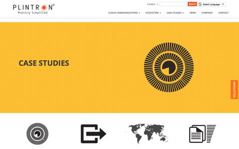 Screenshot of Case Studies Page plintron.com - Plintron - Consulting - captured Nov. 5, 2018